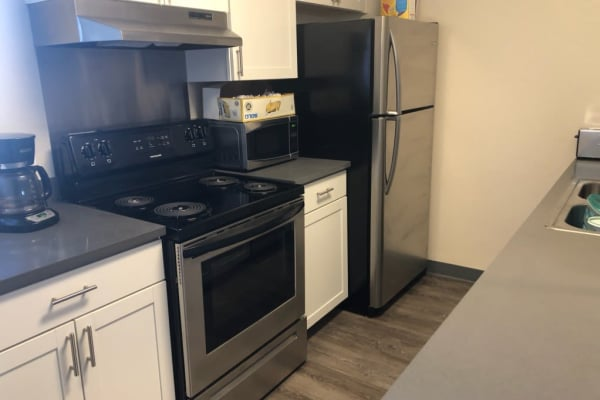 Kitchen layout at Park Terrace in Arvada, Colorado
