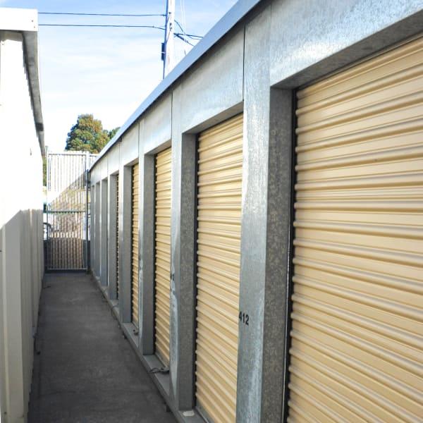 Outdoor storage units at StorQuest Self Storage in San Rafael, California