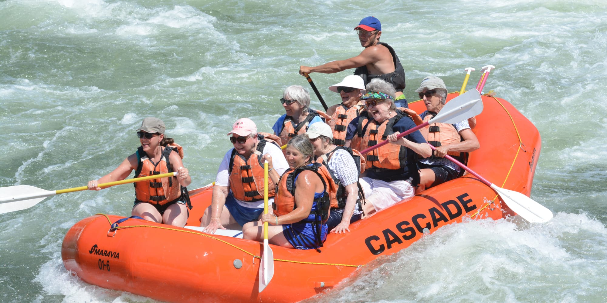 Residents from Meadowlark Estates Gracious Retirement Living in Lawrence, Kansas on a raft