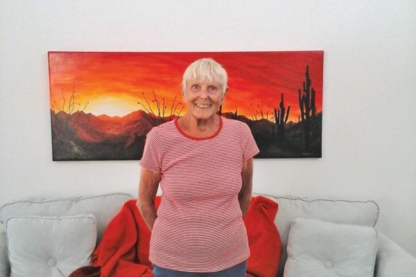 Nancy Jensen at Desert Springs Gracious Retirement Living in Oro Valley, Arizona