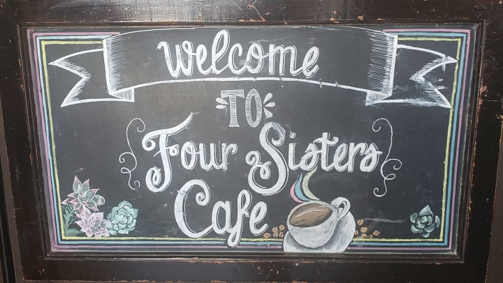 Four Sisters Cafe Sign Roseville CA