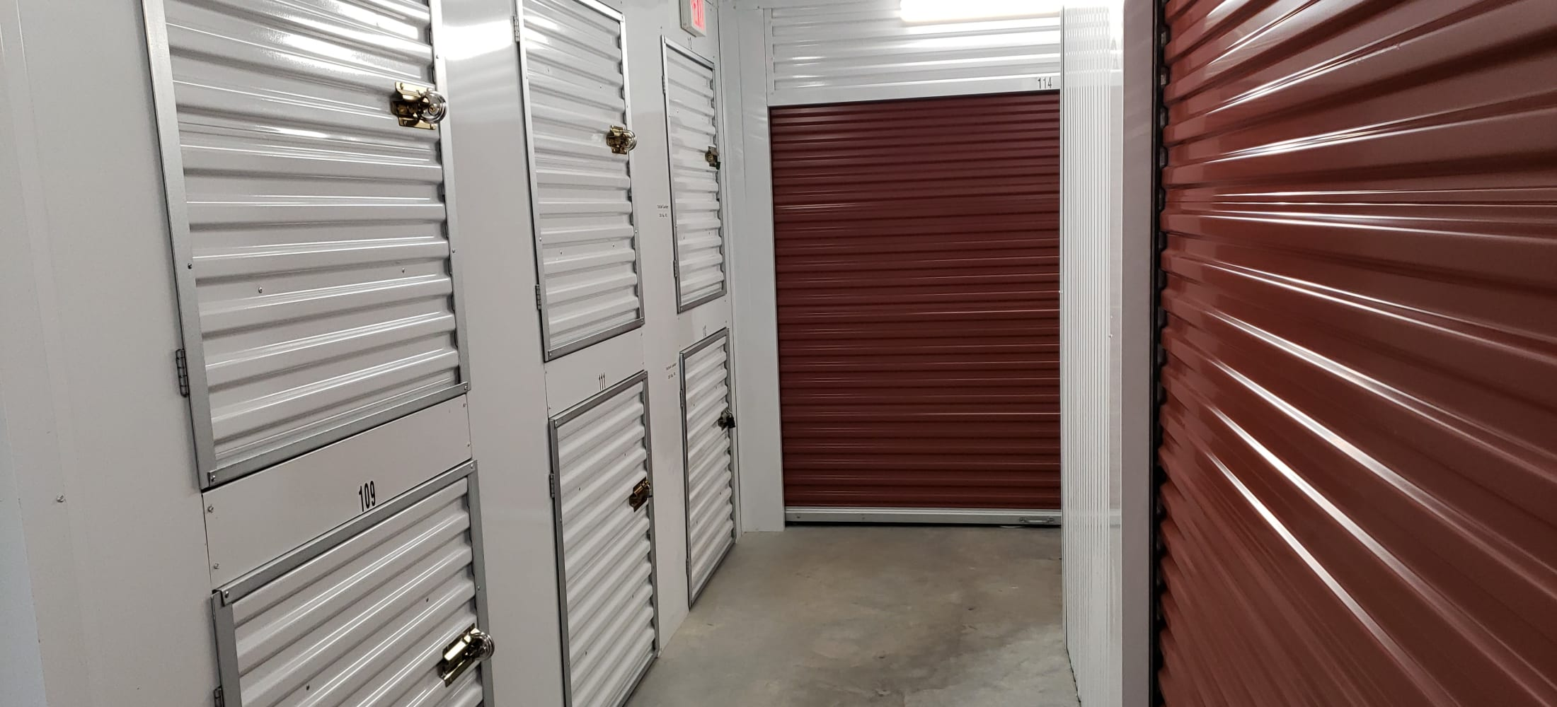 Indoor storage units at Storage Authority Walters Rd in Houston, TX
