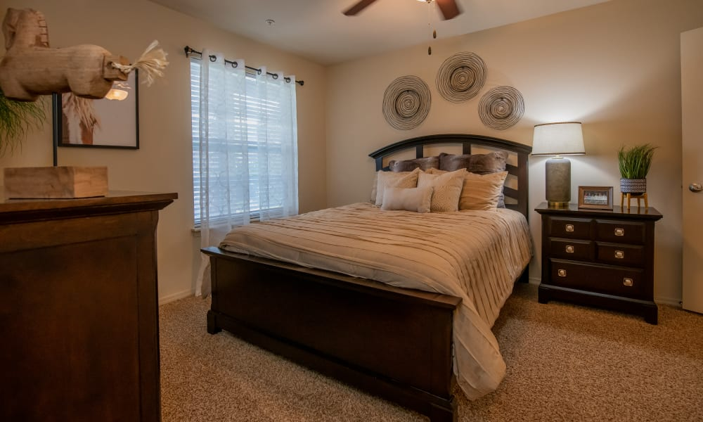 Large bedroom with window at Park at Mission Hills in Broken Arrow, Oklahoma