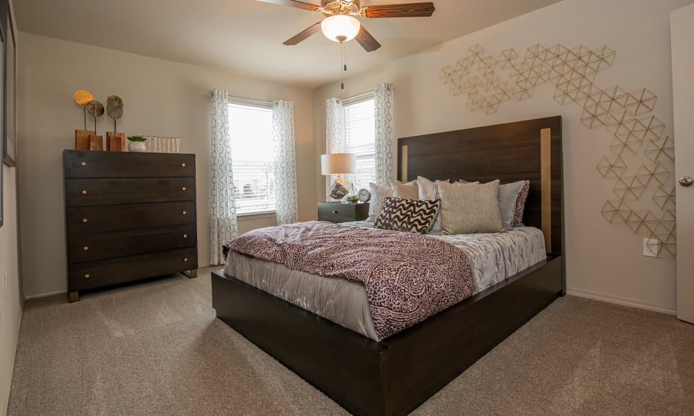 Spacious bedroom with natural light at Cottages at Crestview in Wichita, Kansas