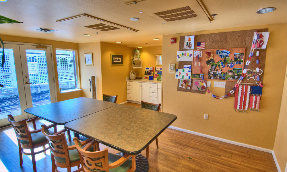 A memory care common room from Touchmark at Harwood Groves in Fargo, North Dakota.