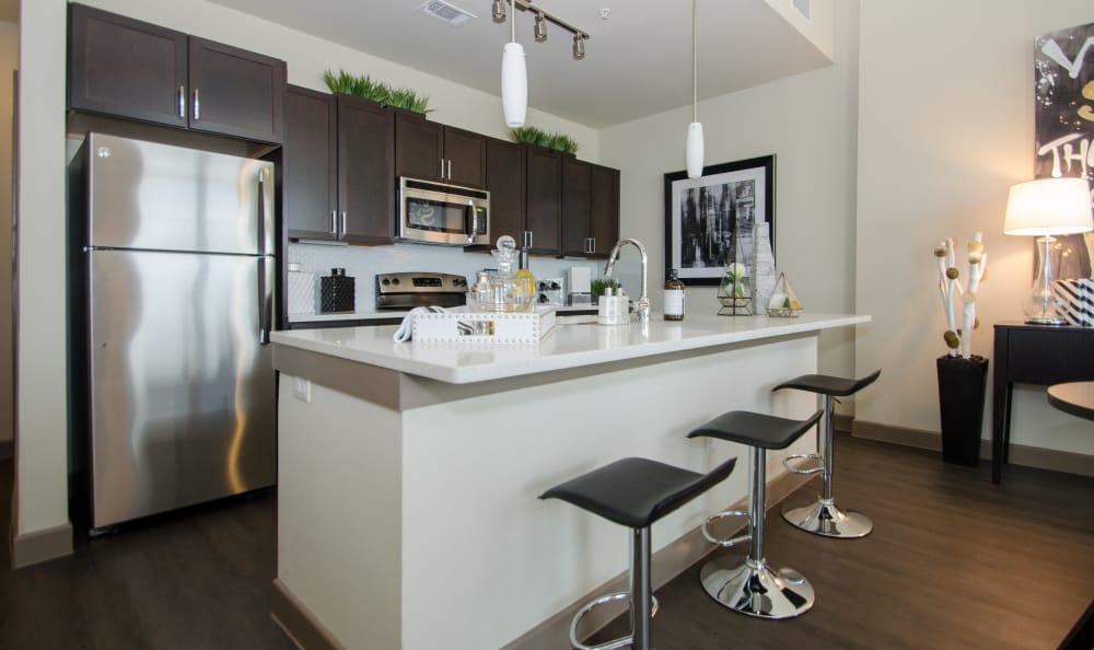 Bar stools at GreenVue Apartments