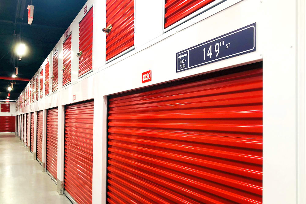 Indoor storage units at Prime Storage
