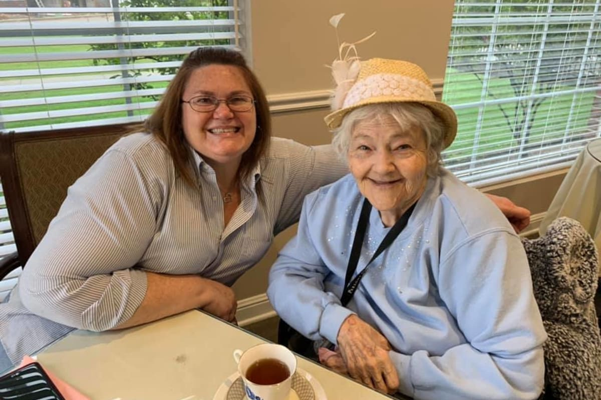 Having tea with Mom at Parsons House Frisco in Frisco, Texas
