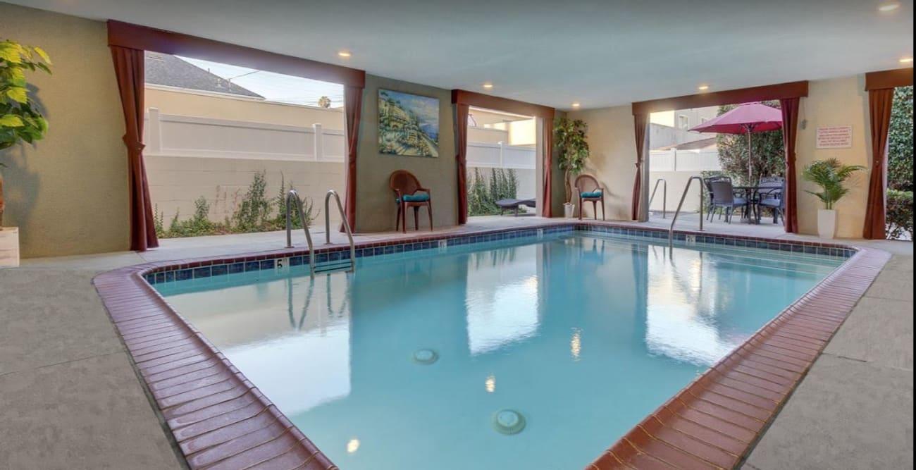 Large indoor pool at The Ritz in Studio City, CA