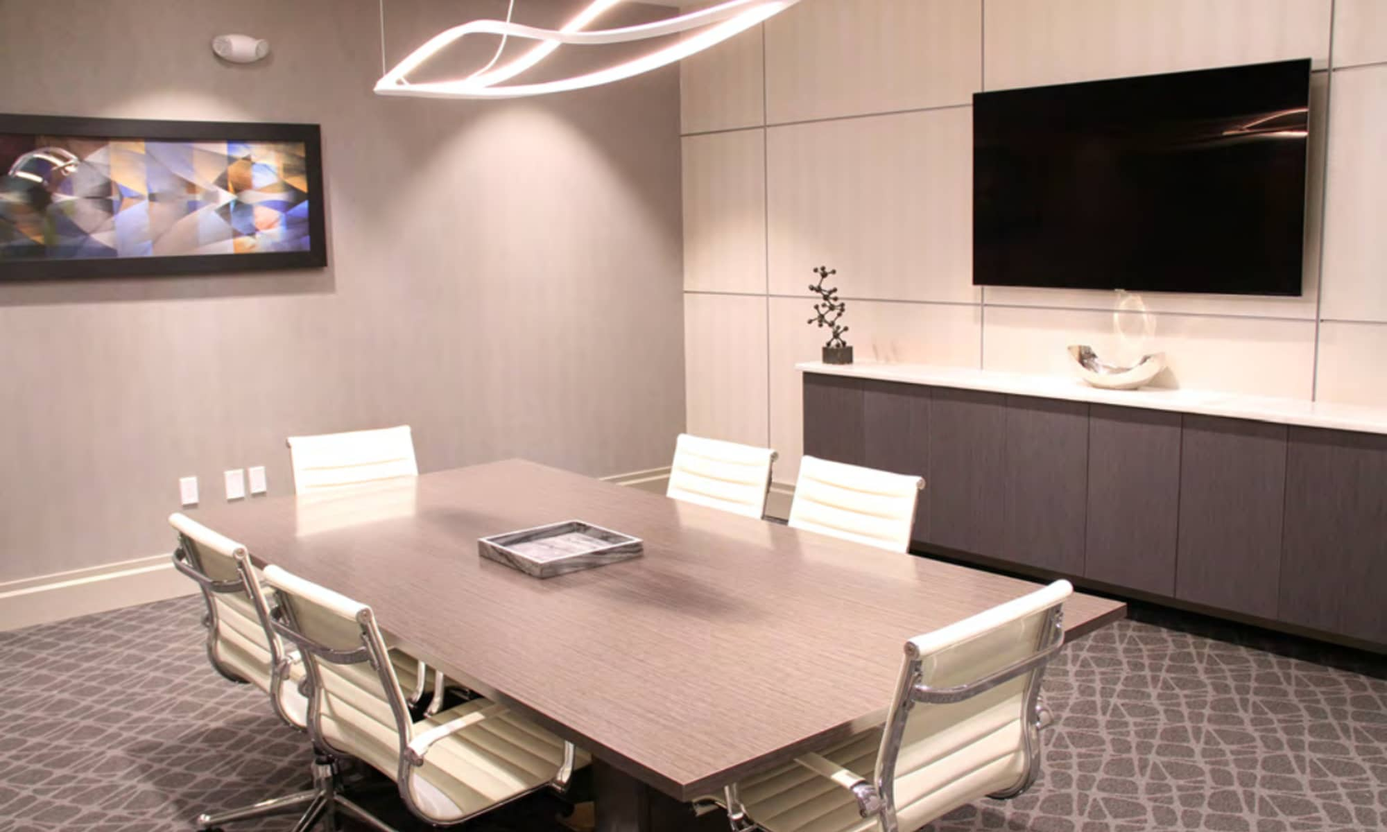 The Harper at Harmon Meadow offers a conference room in Secaucus, New Jersey