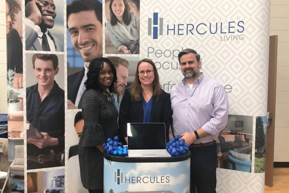 Employees of Hercules Living at a trade show in in Virginia Beach, Virginia.