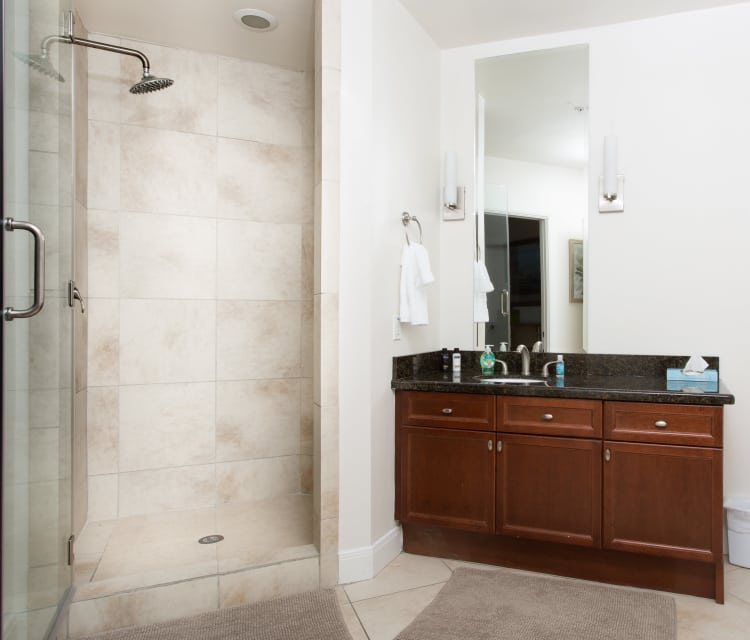 luxurious bath tub in The Heights at Park Lane apartments