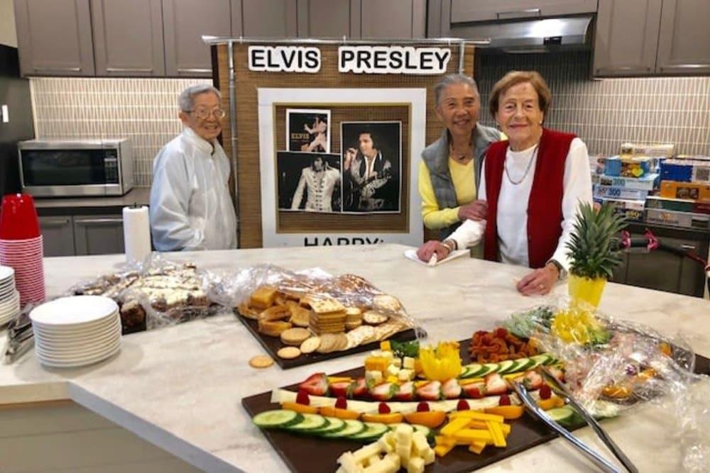 Celebrating Elvis' birthday at Merrill Gardens at Rockridge in Oakland, California