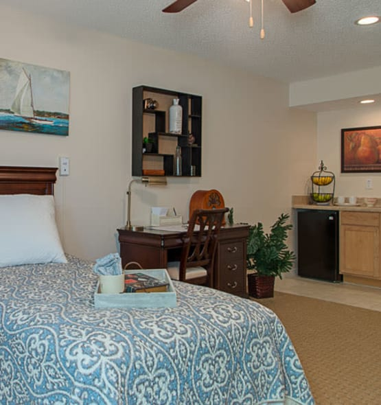 A view into the beauty and comfort our senior living community provides here at Grand Villa of Largo