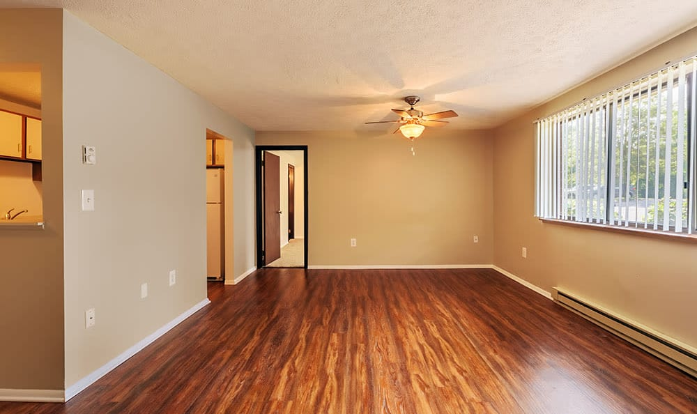 Wood-style flooring at Westpointe Apartments in Pittsburgh, Pennsylvania
