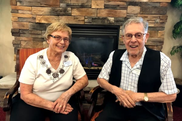 Janet and Jack at Heritage Meadows Gracious Retirement Living in Cambridge, Ontario