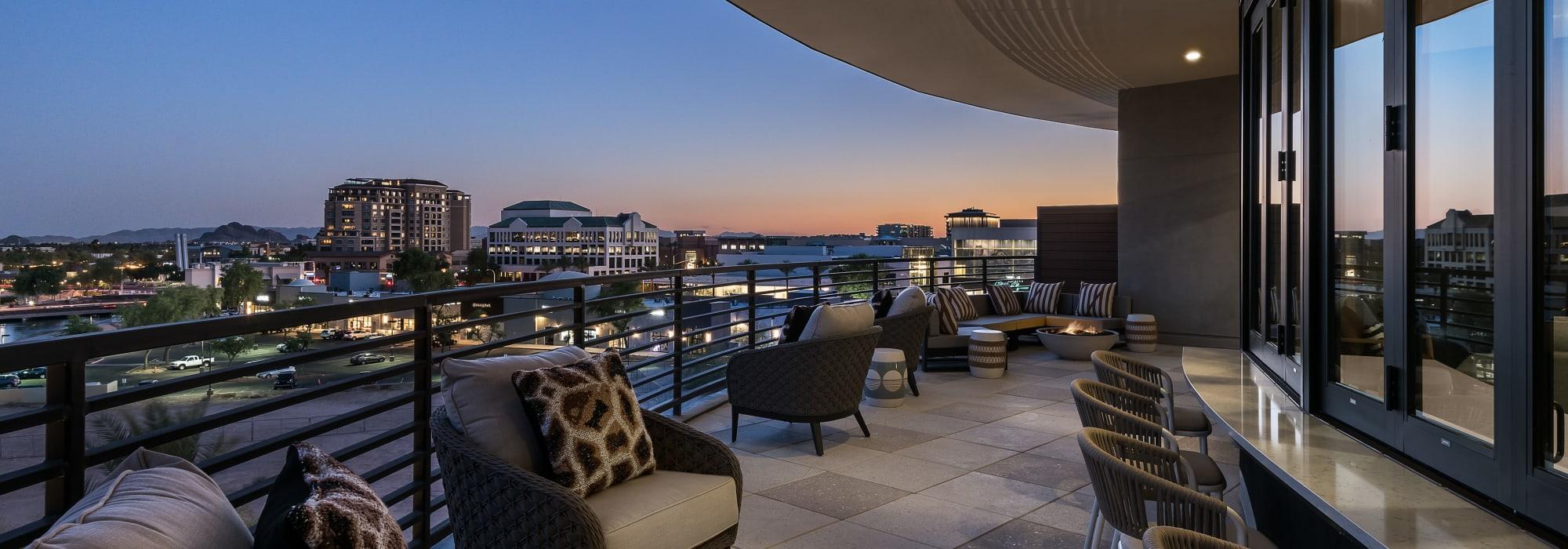 Balcony view of Scottsdale from Gramercy Scottsdale in Scottsdale, Arizona