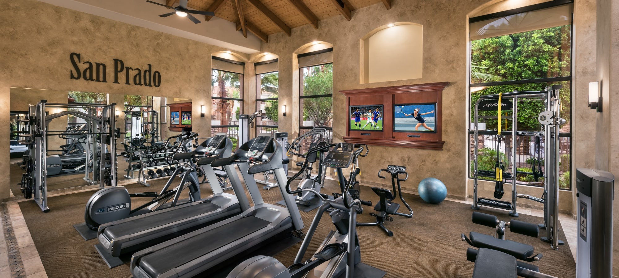 Luxury fitness center at San Prado in Glendale, Arizona