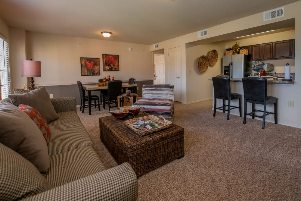 Spacious and bright living space at Park at Tuscany in Oklahoma City, Oklahoma