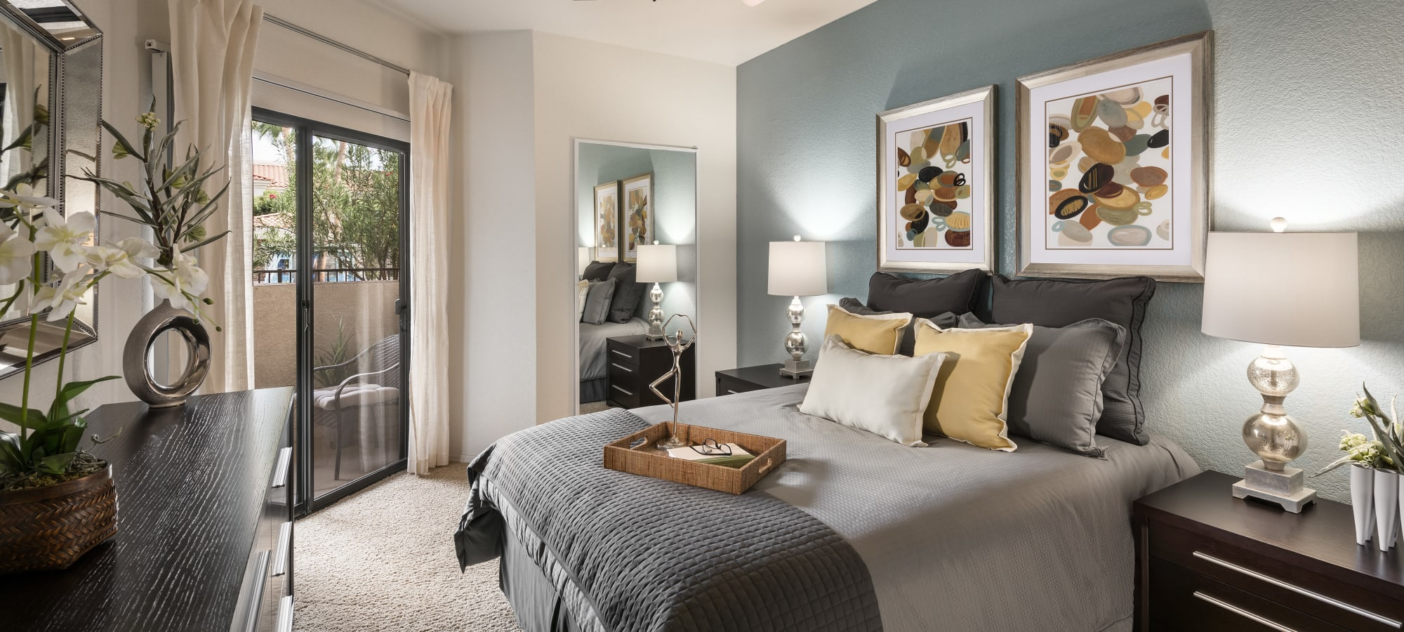 Luxury bedroom at San Prado in Glendale, Arizona