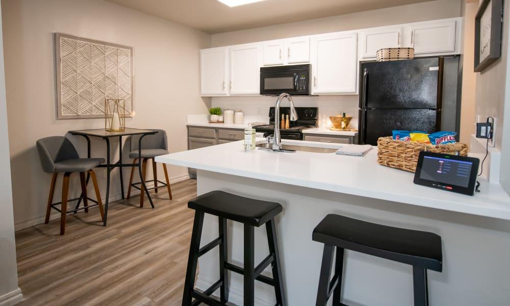 Model kitchen at Cross Timber in Oklahoma City, Oklahoma