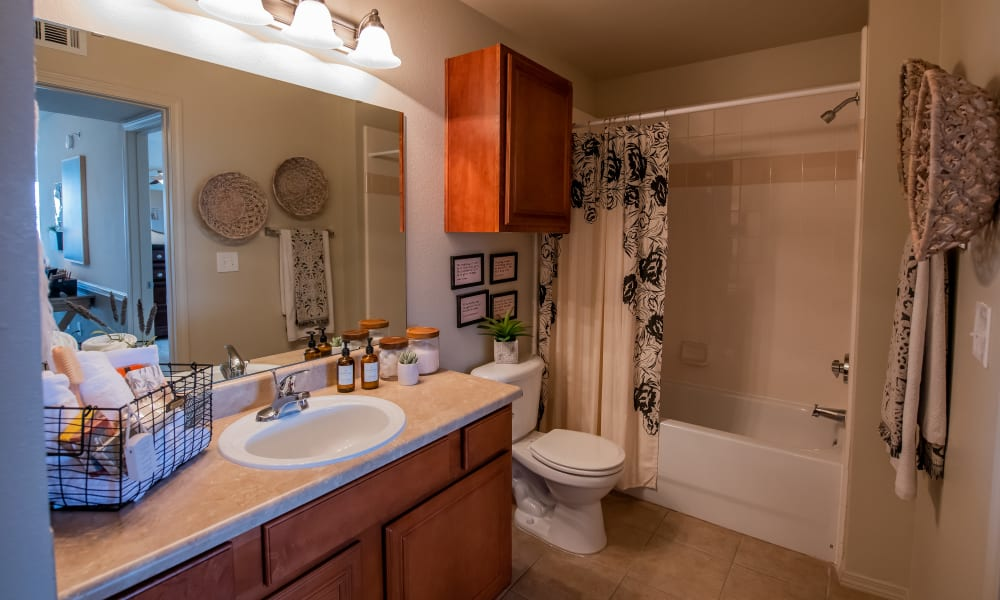 Large bathroom at Colonies at Hillside in Amarillo, Texas