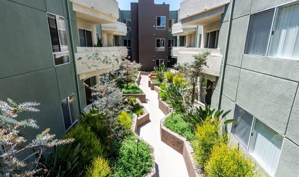 Outdoor Walkways at The Ritz in Studio City, California