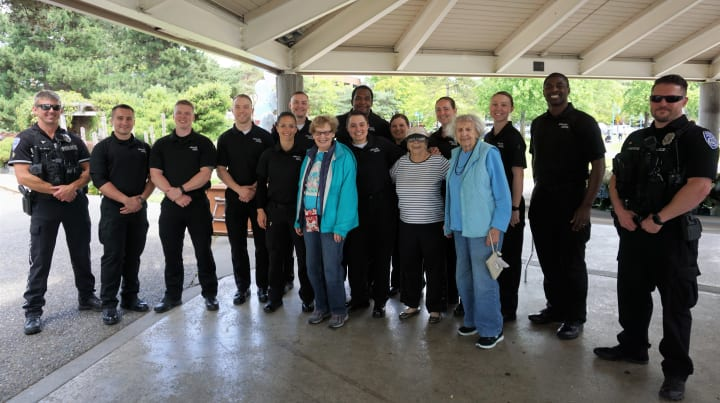 Merrill Gardens at Kirkland first responders and residents