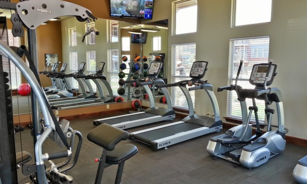 State-of-the-art fitness center at The Icon at Lubbock in Lubbock, Texas