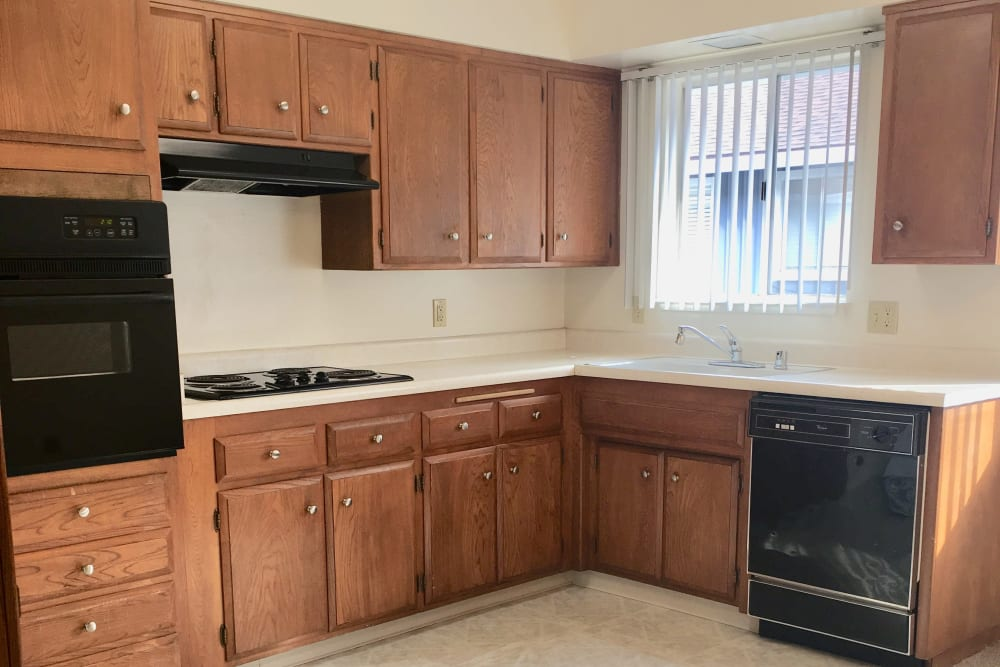 Standard kitchen with plenty of cabinet and counter space at Spring Lake Apartment Homes in Santa Rosa, California