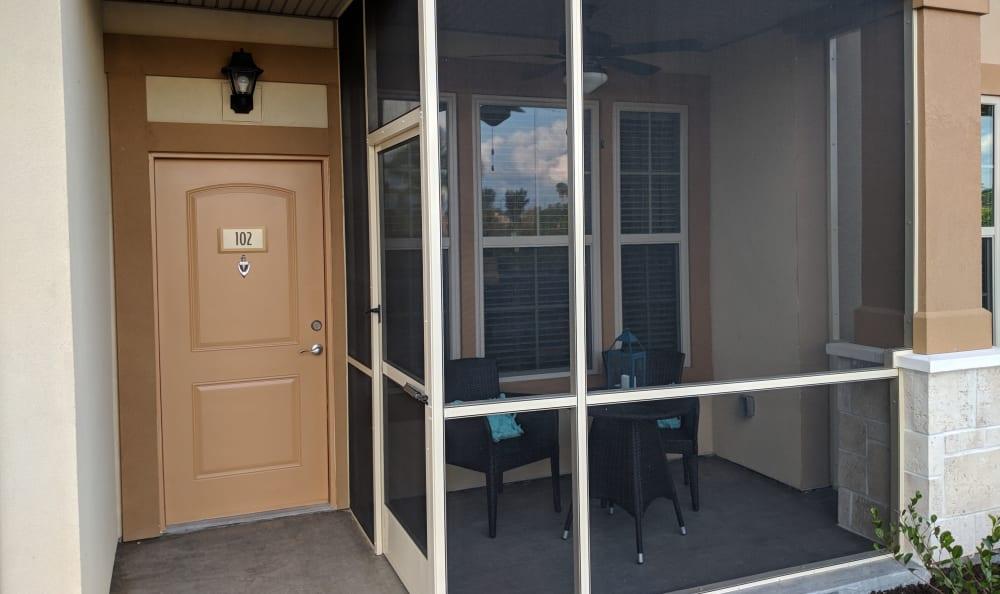 Private porch Springs at Gulf Coast in Estero, FL