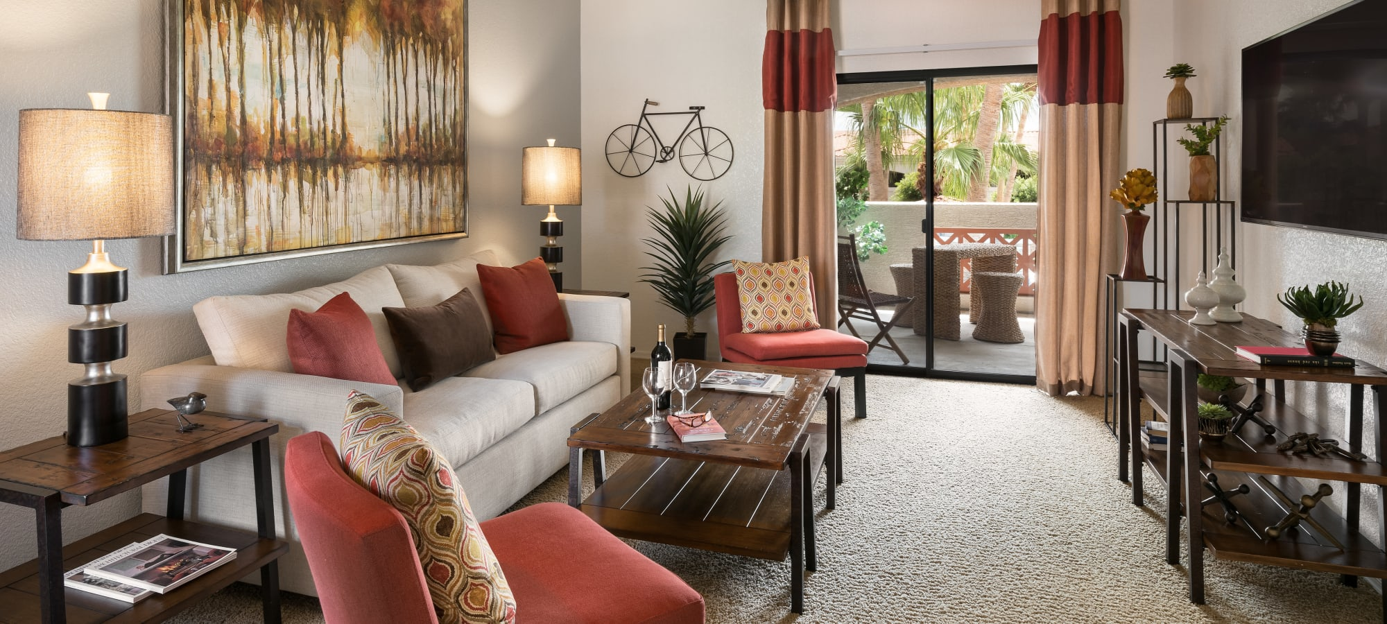 San Prado offers a luxury living room in Glendale, Arizona