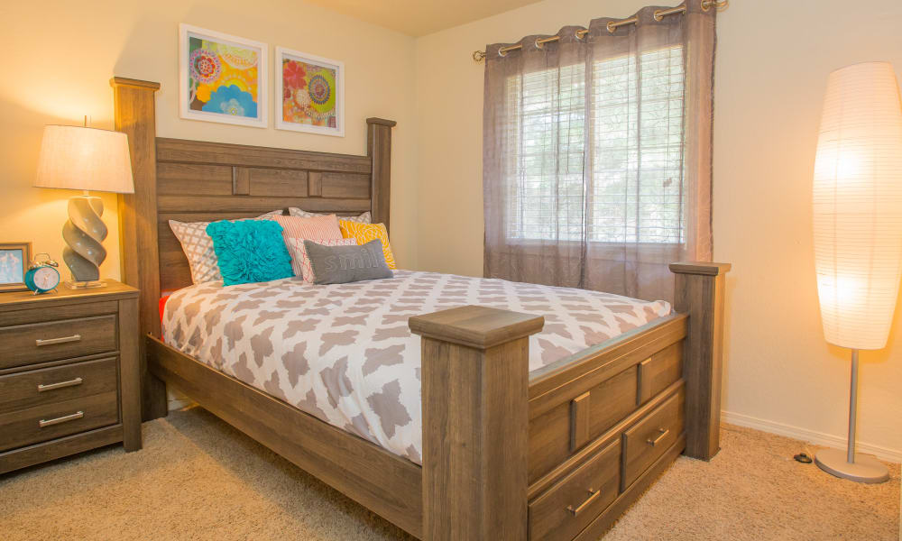 Comfortable Bedroom at Chardonnay in Tulsa, Oklahoma