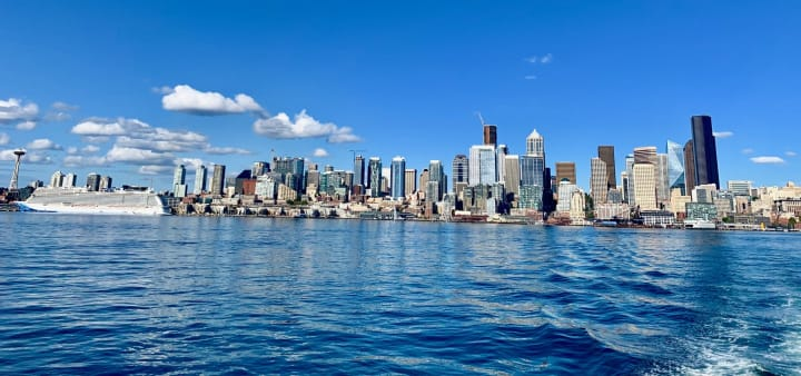 Seattle skyline from the water taxi outing