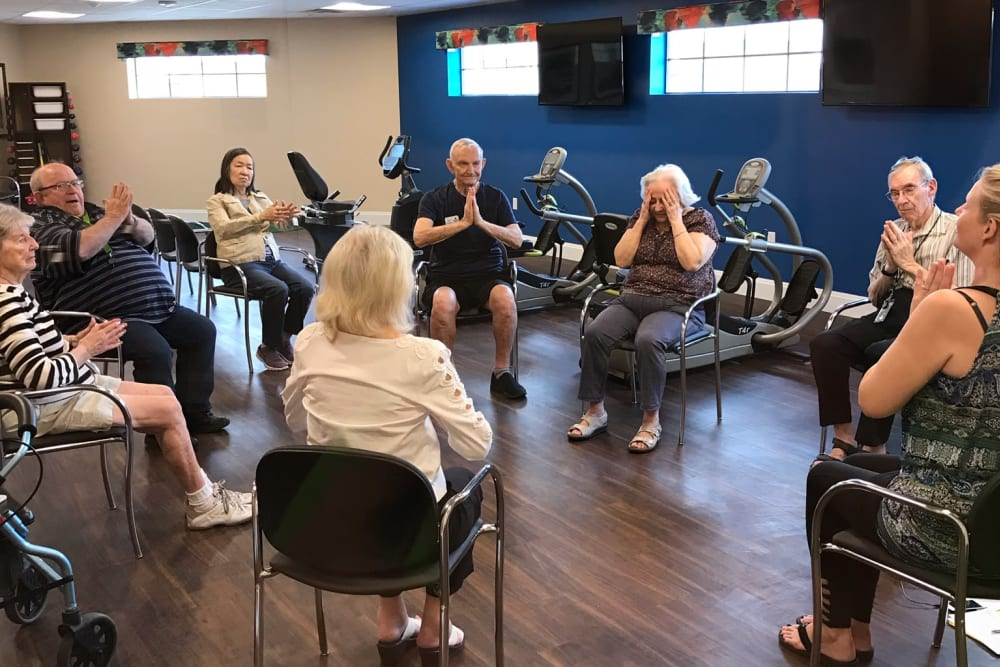 Exercise at Orchard Pointe at Terrazza