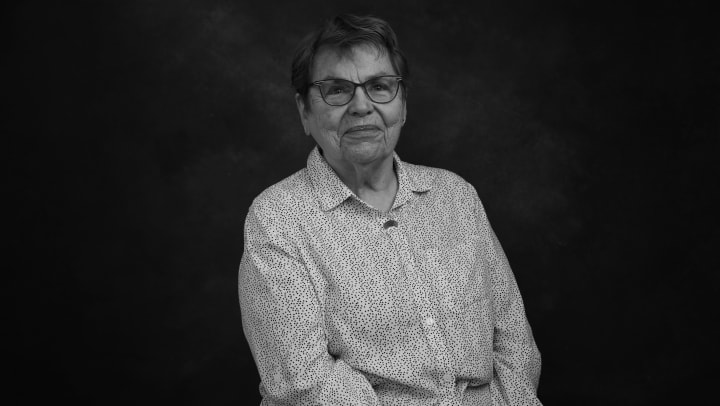 Portrait of Judy Harrington, resident of Touchmark at All Saints