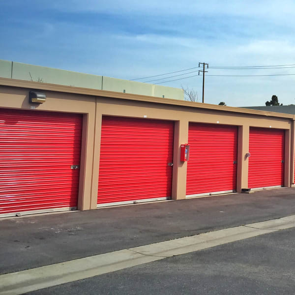 Drive-up storage units at StorQuest Self Storage in Oxnard, California