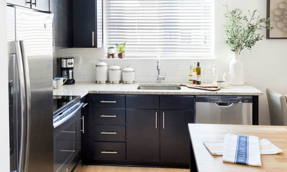 Chef-inspired kitchen in a model home at The Bixby in Washington, District of Columbia