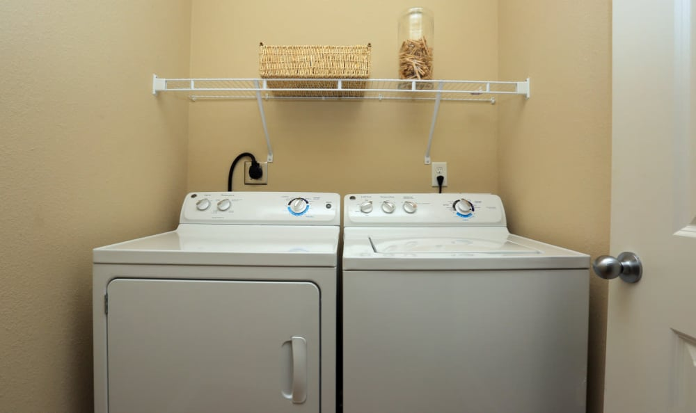 In Unit Laundry At Springs at Woodlands South Apartments In Tulsa