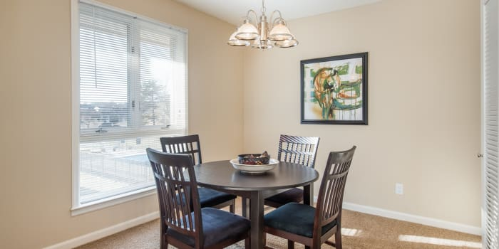 Stylish dining room at Regency Lakeside Apartment Homes in Omaha, NE