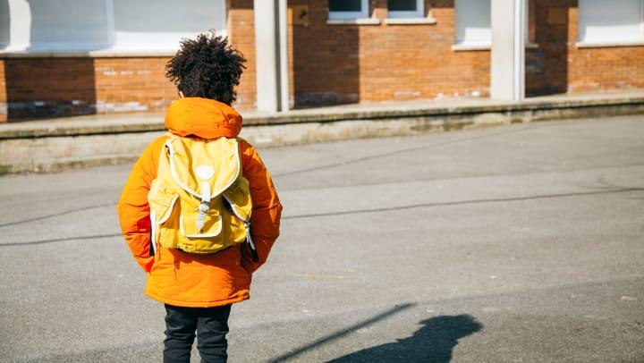 parents sending children back to school