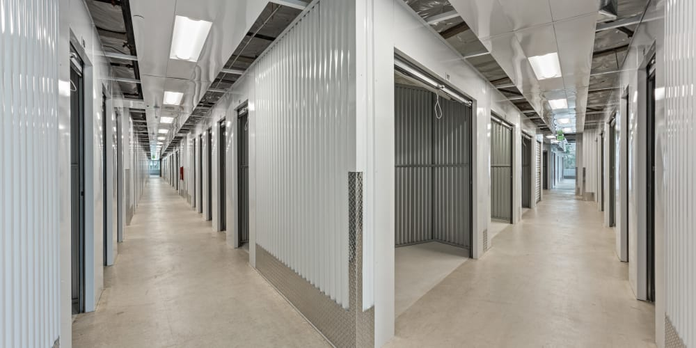 Indoor climate controlled units at StorQuest Self Storage in Aurora, Colorado