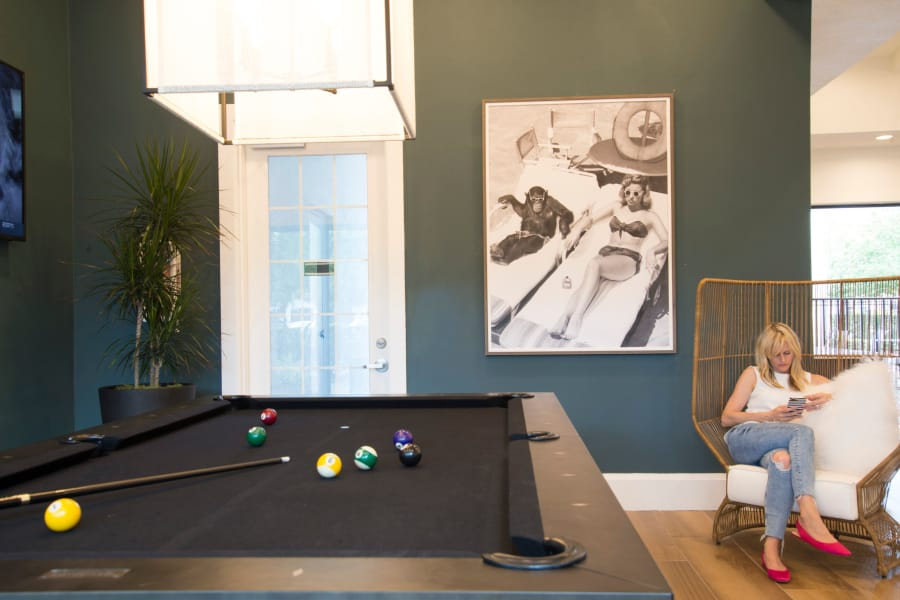 Pool Table at The Sophia at Abacoa in Jupiter, Florida