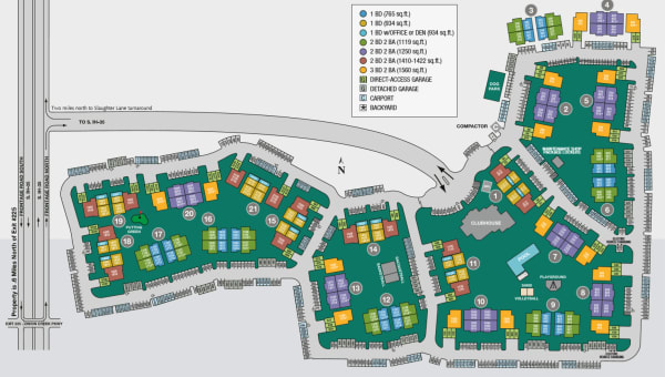 Site map of Onion Creek Luxury Apartments in Austin, TX