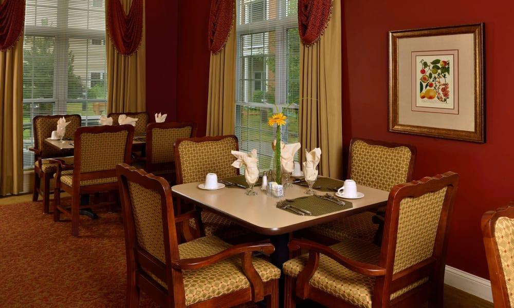 Enjoy your dinner at Keystone Commons's dining room in Ludlow, Massachusetts