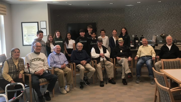 Stevenson students with MG Monterey residents
