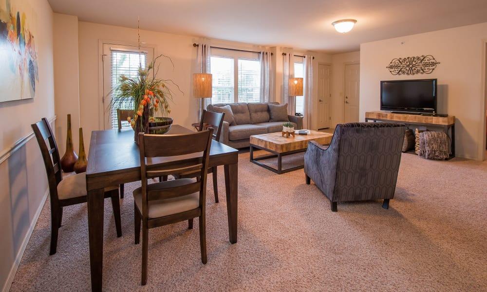 Beautiful living room at Prairie Springs in Oklahoma City, Oklahoma