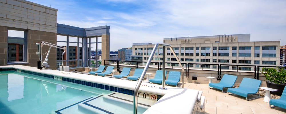 Roof top pool with a view at Harlow in Washington, District of Columbia