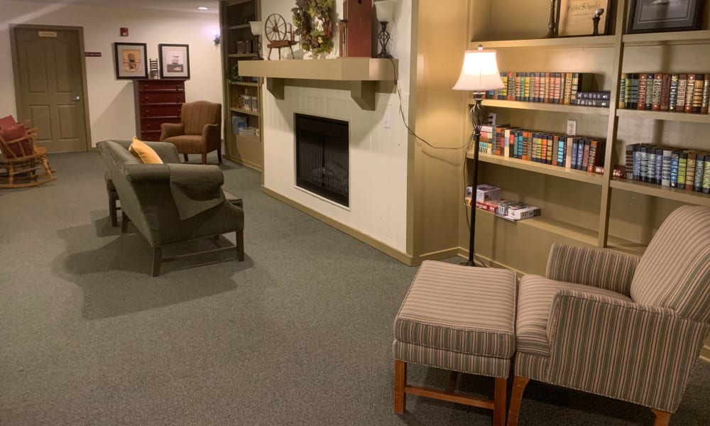 Seating area in Liberty House at Generations at Lewiston in Lewiston, Idaho