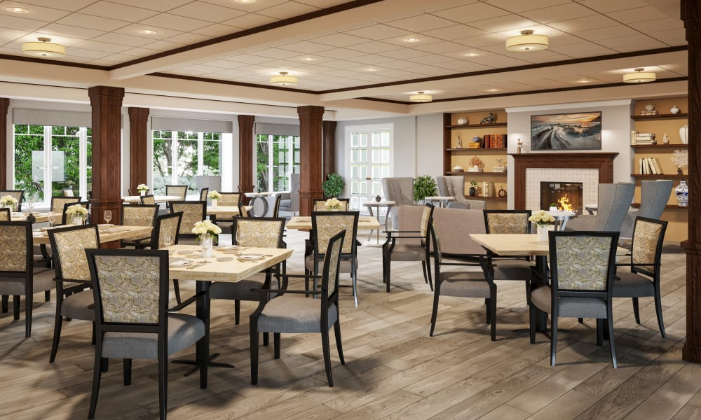 Memory care dining area at Talamore Senior Living in St. Cloud, Minnesota